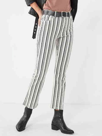 High-Rise Cropped Kick Flare Jean