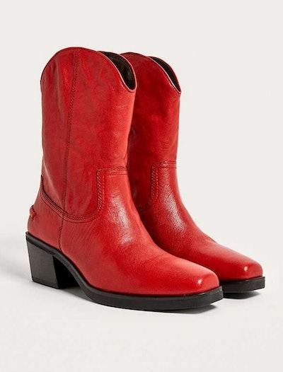 Vagabond Simone Red Cowboy Boots