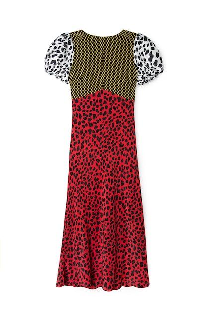 Mixed Leopard Dress
