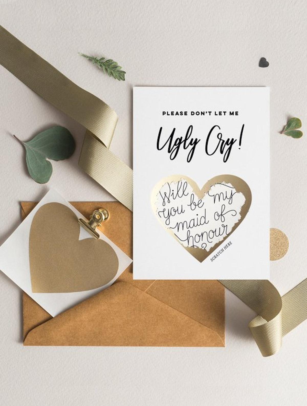 Bridesmaid Proposal Scratch Off Card