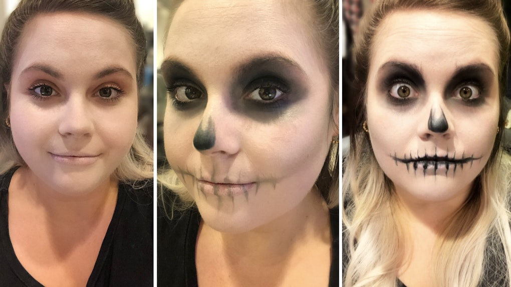 This Easy Skull Makeup Tutorial Is So Simple, A Numskull Could Do It — EXCLUSIVE