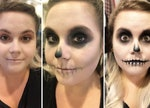 This easy skull makeup tutorial is your ticket to the perect, last-minute halloween makeup look