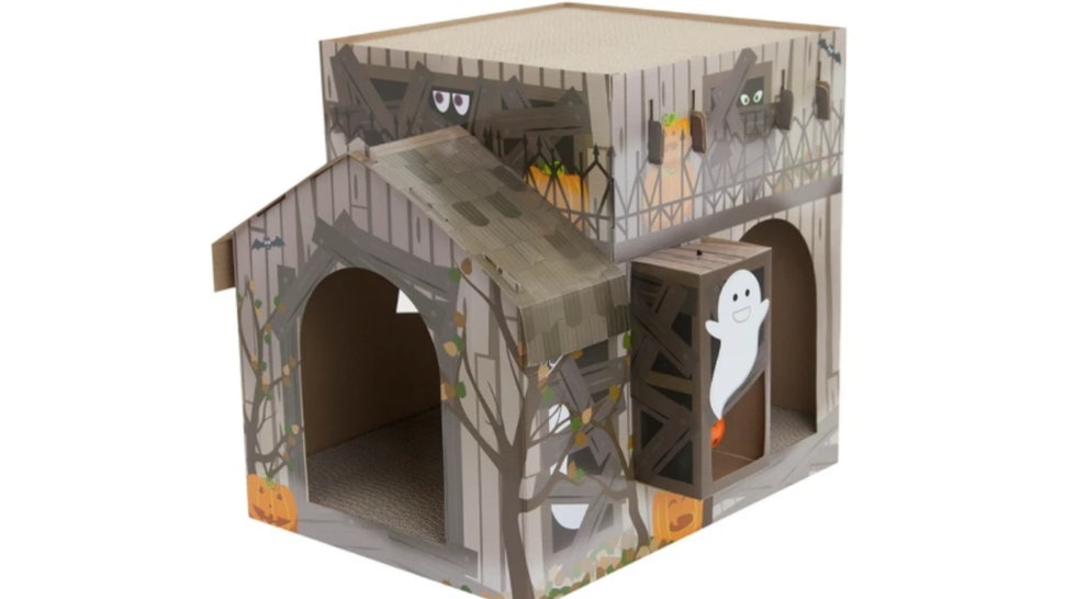Phenomenal Cat Scratch Haunted House Brown Large Hyde And Eek Boutique Home Interior And Landscaping Synyenasavecom