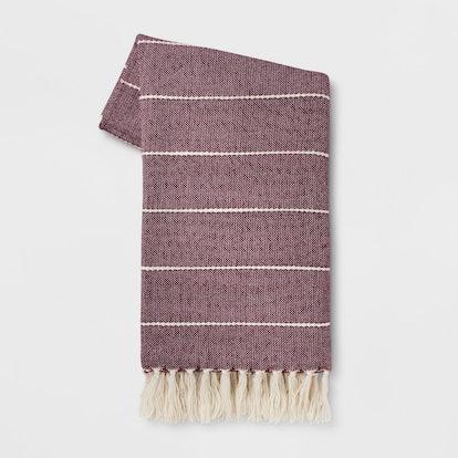 Opalhouse Woven Stripe Throw Blanket