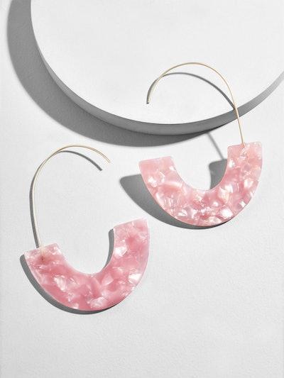 Faidra Resin Drop Earrings In Pink