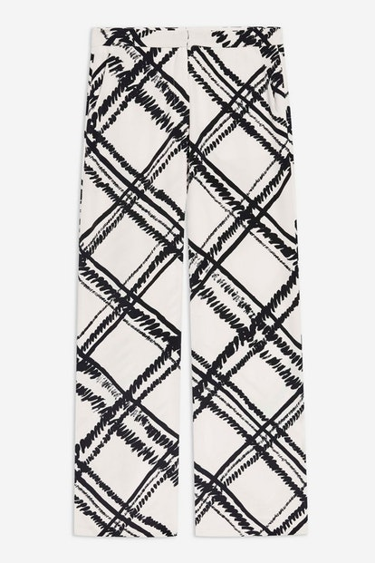 Giant Check Leg Trousers by Boutique
