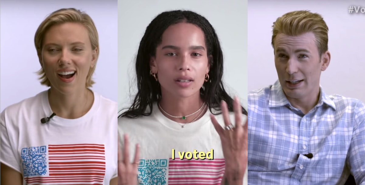 This Celebrity Voting PSA Is Filled With Confessions From Chris Evans, Zoe Kravitz, & More — VIDEO