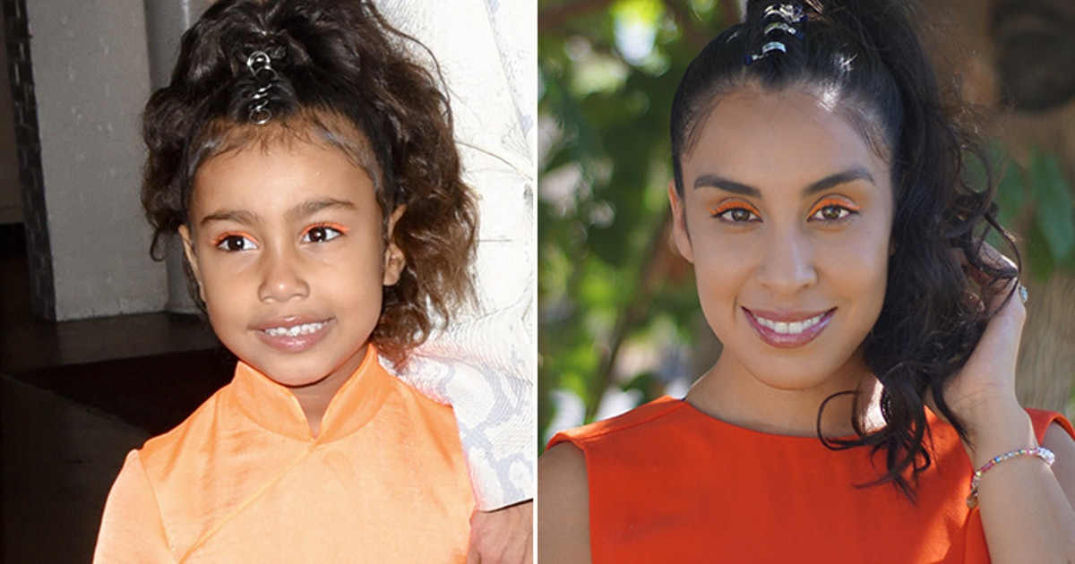 North West Wore Orange Eyeliner & A Pony, So I Wore Orange Eyeliner & A Pony