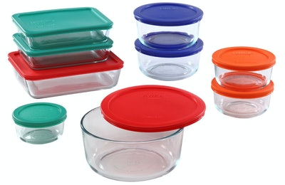 Pyrex Food Container Set, Set Of 9