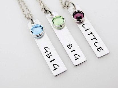 Big Little Sorority Sisters Birthstone Necklaces