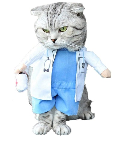 Mikayoo Doctor Costume For Cats & Dogs