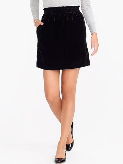 Velvet Sidewalk Mini Skirt