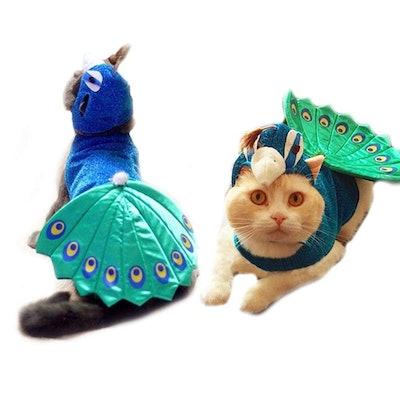 FLAdorepet Peacock Pet Costume