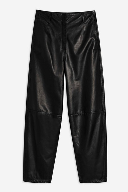 Banana Leg Leather Trousers by Boutique