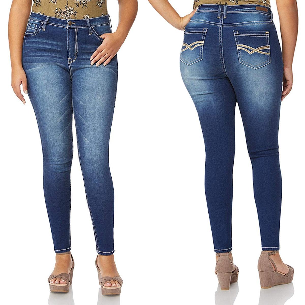 WallFlower Women's Plus Size Denim Jegging