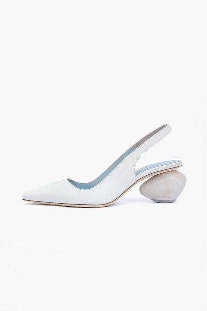 Margot Ivory Leather Slingback Heel