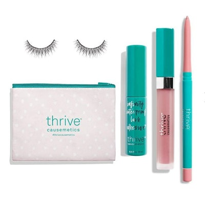 Pink Lips + Lashes Set