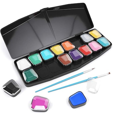 ARTEZA 16 Colors Face and Body Paint Set and Palette Kit
