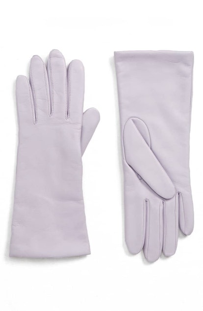 Halogen® x Atlantic-Pacific Cashmere Lined Leather Gloves