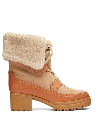 Eileen Lace-Up Shearling Boots