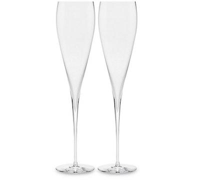 Godinger S/2 Carat Champagne Flutes, Clear