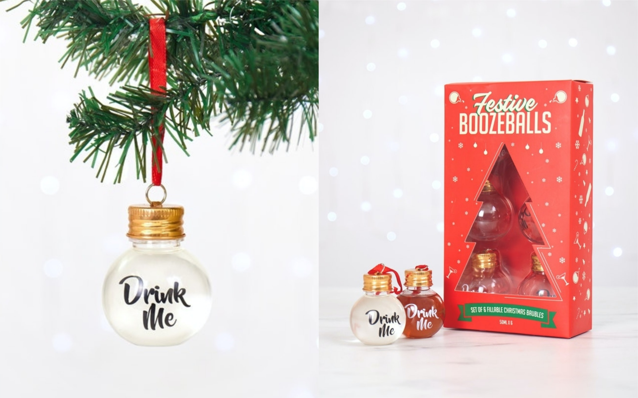 Festive Boozeballs Are Christmas Tree Ornaments You Can Fill With