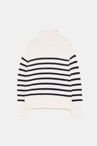 Striped Sweater with Buttons