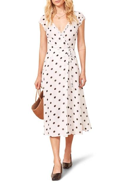 Gwenyth Polka Dot Wrap Dress