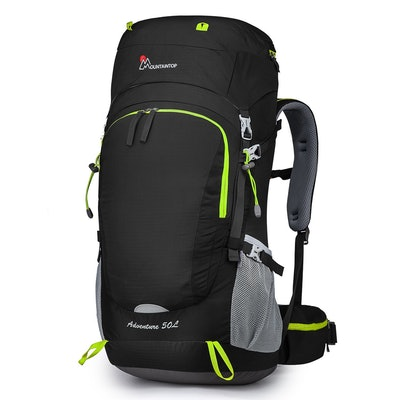 Mountaintop 50L Hiking Backpack With Rain Cover
