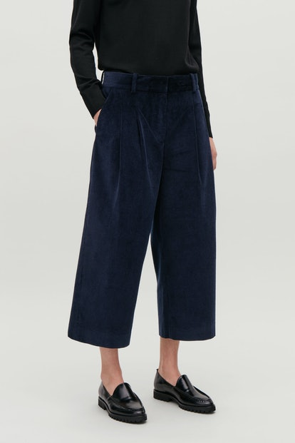 Wide-Leg Corduroy Trousers