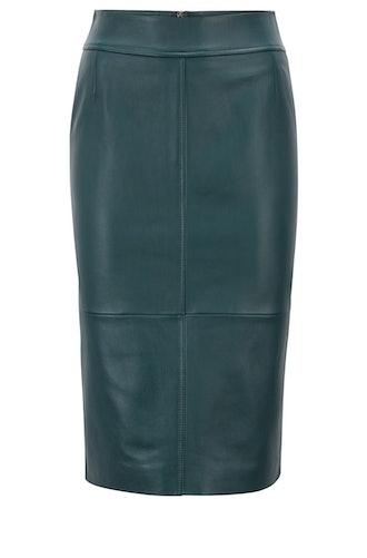 Selrita Leather Pencil Skirt