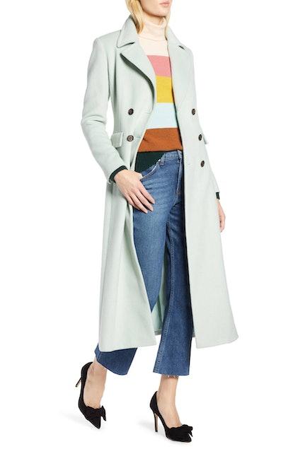 Halogen® x Atlantic-Pacific Double Breasted Long Coat