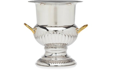 Reyna Champagne Bucket, Silver/Gold
