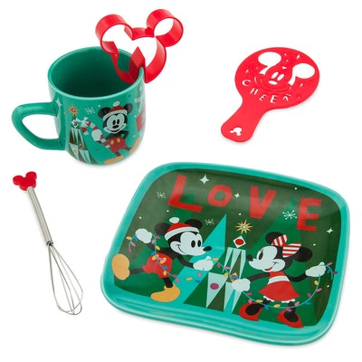 Santa Mickey and Minnie Mouse Hot Cocoa Gift Set
