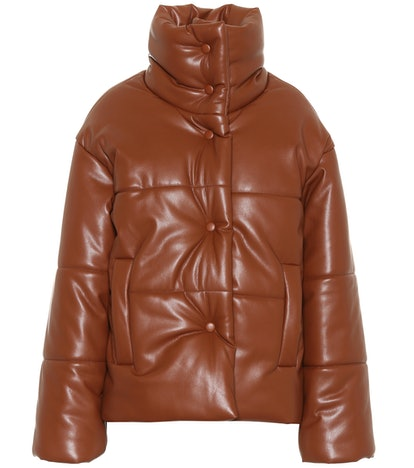 Hide Faux Leather Puffer Jacket