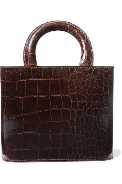 Brown Croc Embossed Bag