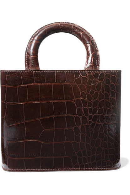 Brown Croc Embossed Bag
