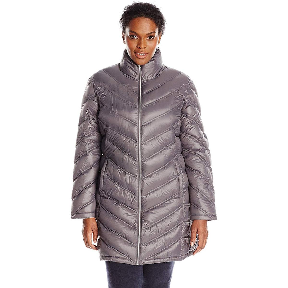 Calvin Klein Women's Plus-Size Down Coat