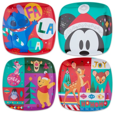 Mickey Mouse and Friends Holiday Cheer Plate Set - 4-Pc.
