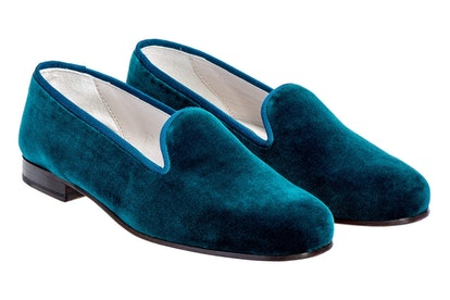 Teal PS Cotton-Velvet Slipper