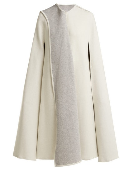 Amunet Draped Wool Cape