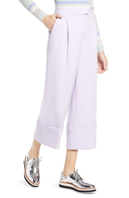 Halogen® x Atlantic-Pacific High Waist Wide Cuff Ankle Pants