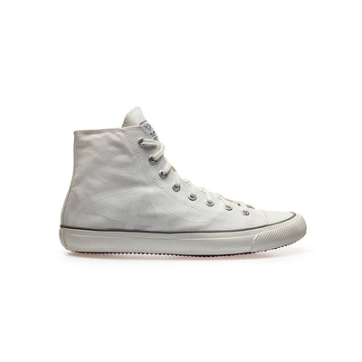 Butterfly White Unisex High Top Trainers