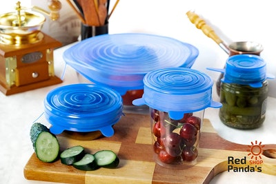 Six Pack Of Silicone Lids