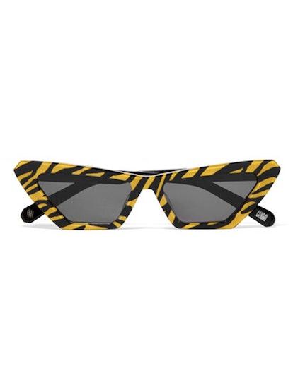 Tiger Printed Cat-Eye Acetate Sunglasses