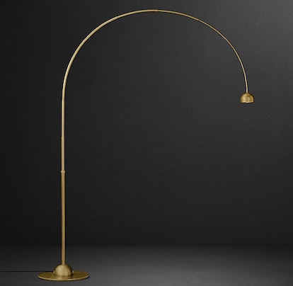 L'Arc Task Floor Lamp in Lacquered Burnished Brass