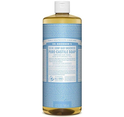 Dr. Bronner's Hemp Baby Unscented Pure-Castile Soap