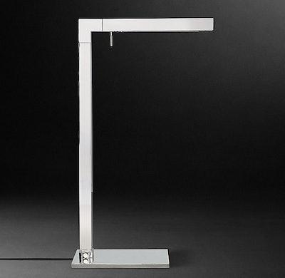 Cannele Task Floor Lamp in Polished Nickel
