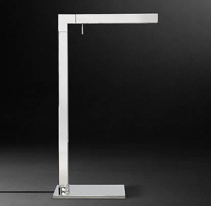 Cannele Task Floor Lamp in Polished Nickel