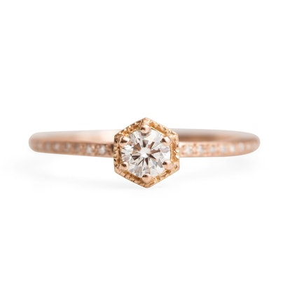 White Diamond Hexagon Ring Supreme